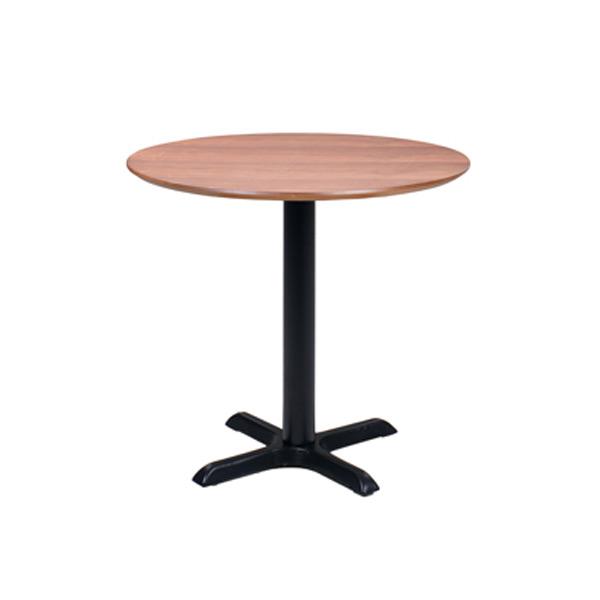 "32"" Round Walnut Café Table with Black Base"