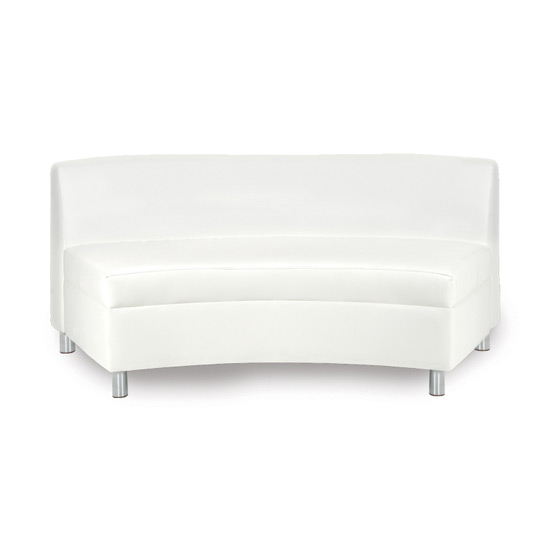 Continental Curved Loveseat