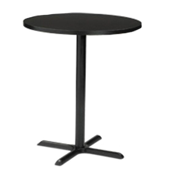 30″ Round Bar Table With Black Base - Black